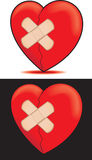 Broken Heart Bandaged Stock Photo