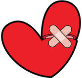 Broken Heart With Bandaid Royalty Free Stock Images