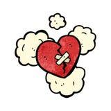 Broken heart cartoon Stock Images