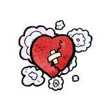 Broken heart cartoon Stock Photography