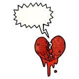 broken heart cartoon Royalty Free Stock Photo