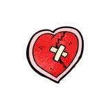 Broken heart cartoon Royalty Free Stock Photos