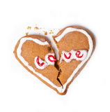 Broken heart christmas biscuit cookie Stock Photo