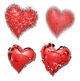 Broken hearts Stock Images