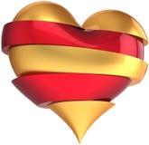 Broken heart contrast Love Royalty Free Stock Images