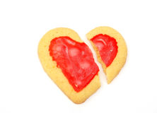 Broken heart cookie Royalty Free Stock Photos