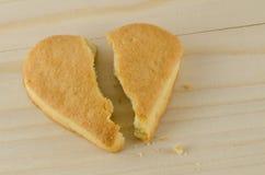 Broken heart cookies Stock Photos