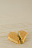 Broken heart cookies Stock Image