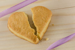 Broken heart cookies Royalty Free Stock Image