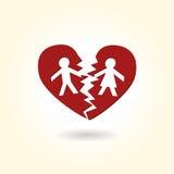 Broken Heart Couple Stock Images