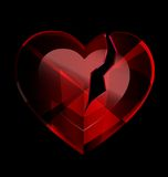 Broken heart-crystal Stock Image