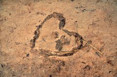 Broken heart. Desert and broken heart Stock Photo