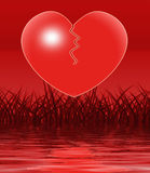Broken Heart Displays Depression Loneliness And Sadness Royalty Free Stock Image