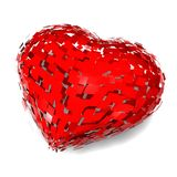 Broken heart, divorce concept with heart Stock Photos