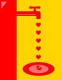 Broken heart faucet Royalty Free Stock Image