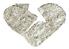 A broken heart from a foil Stock Images