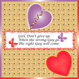 Broken heart girl but do not give up Royalty Free Stock Photo