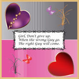 Broken heart girl but don't give up Royalty Free Stock Photography