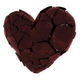 Broken heart. Glass broken heart Royalty Free Stock Image