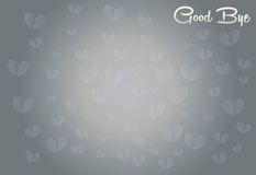 Broken Heart with Good bye word for Abstract. Background Vector art and Illustration Royalty Free Stock Photography