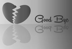 Broken Heart with Good bye word for Abstract. Background Vector art and Illustration Stock Photo