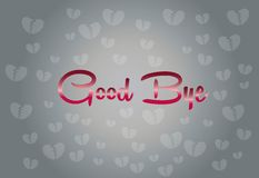 Broken Heart with Good bye word for Abstract. Background Vector art and Illustration Stock Photos