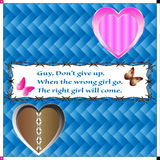 Broken heart guy but do not give up Royalty Free Stock Images
