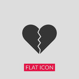 Broken heart icon. Illustration vector Stock Image