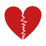 Broken heart icon Royalty Free Stock Image
