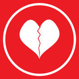 Broken heart icon Stock Images