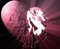 Broken heart illustration Royalty Free Stock Photo