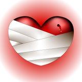 Broken heart. Illustration of a broken heart Stock Image