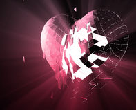 Broken heart illustration Royalty Free Stock Photos