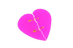Broken heart isolated Stock Photos