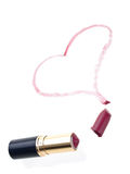 Broken heart lipstick Stock Photo