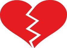 Broken heart love. Hurt vector royalty free illustration