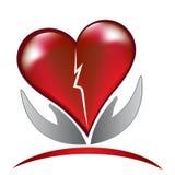 Broken heart love logo Stock Image
