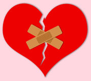 Broken heart. Needing to be mended and missing love Stock Photo