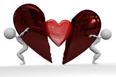 Broken Heart - New Love Stock Photo