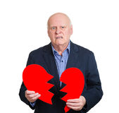 Broken heart old man Stock Image