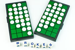 Broken Heart Othello with Alphabet Blocks Isolated Stock Images
