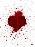 Broken heart in peaces. Illustration of broken heart in peaces with ripped blood Stock Photography