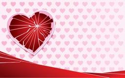 Broken heart pink bckgrnd Stock Photo