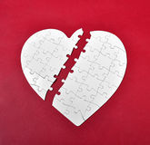 Broken heart puzzle Royalty Free Stock Photos