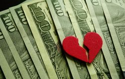 Broken heart Royalty Free Stock Images