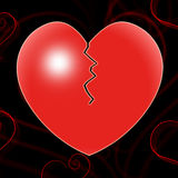 Broken Heart Represents Valentines Day And Affection Royalty Free Stock Photography