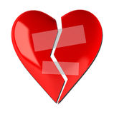 Broken heart shape Royalty Free Stock Images