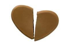 Broken heart shape chocolate Stock Images