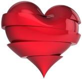 Broken heart shape. Slices of Love Stock Images