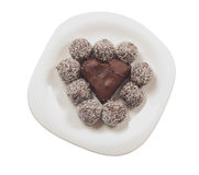 Broken heart shaped cocholate royalty free stock photos